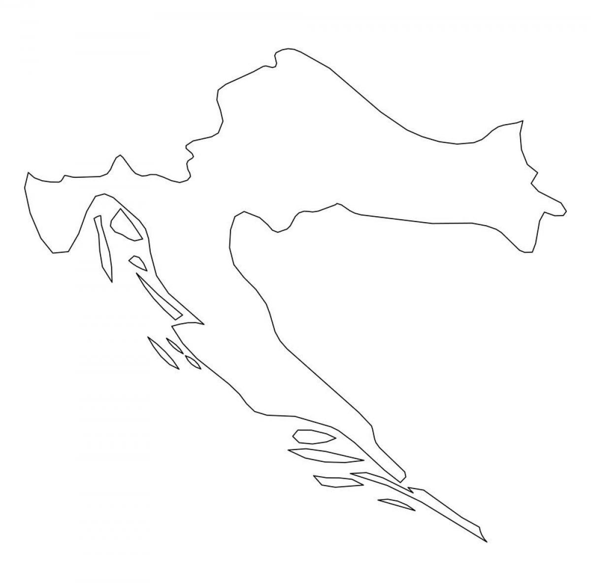Croatia contours map